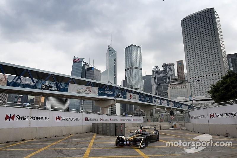 フォーミュラE開幕戦香港ePrixフリー走行2回目:クラッシュが相次ぐ難コースで、ベルニュが首位