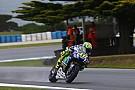 MotoGP:ロッシ、FP1タイム抹消。ウェットタイヤの走行制限を超過