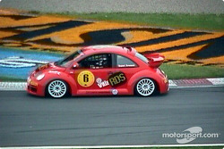 Rene Arnoux in a bug