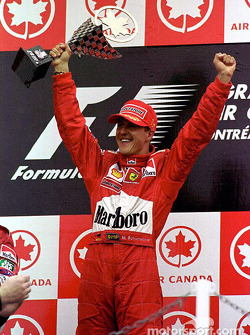 Schumi on the podium