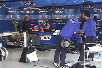 Prost team adding race parts