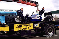 Ralf Schumacher's Williams on a truck