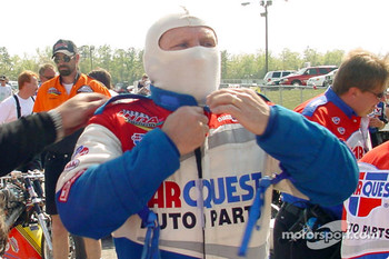Paul Romine suits up for the final round in top fuel
