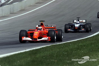 Rubens Barrichello and David Coulthard