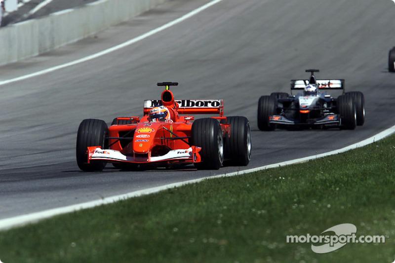 Rubens Barrichello and David Coulthard