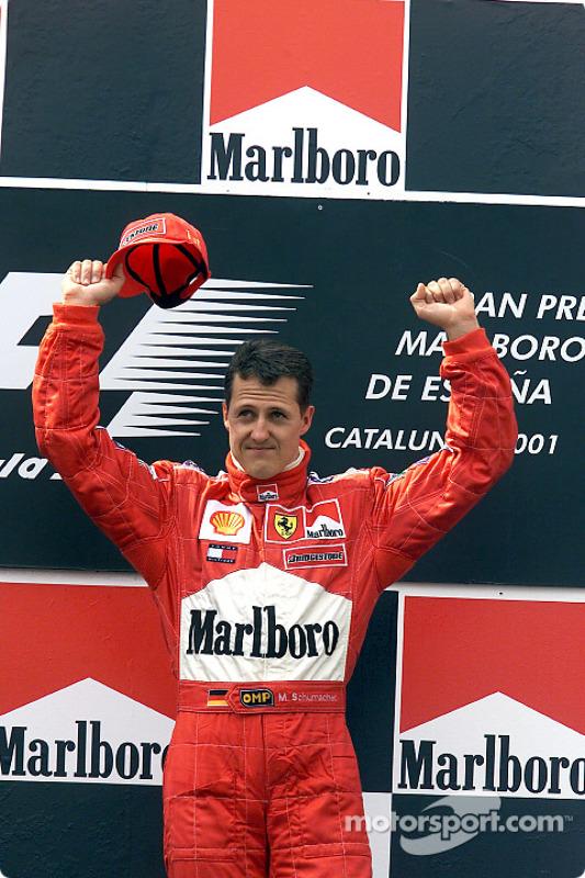 The podium: Michael Schumacher