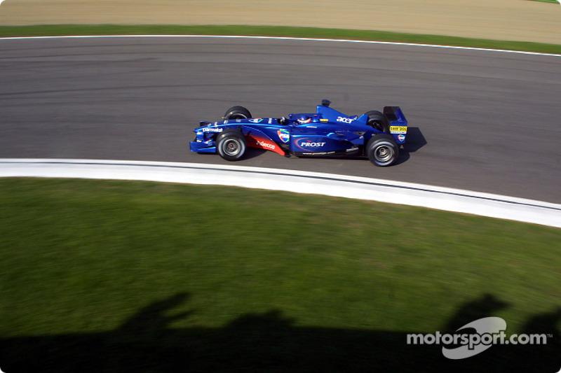 Gaston Mazzacane durante el GP de San Marino de 2001, el último con presencia argentina en F1.