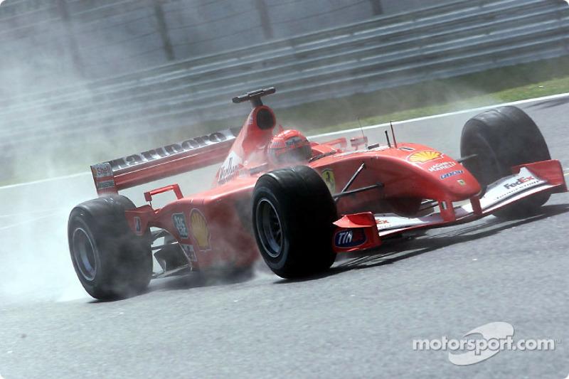 Michael Schumacher in the rain