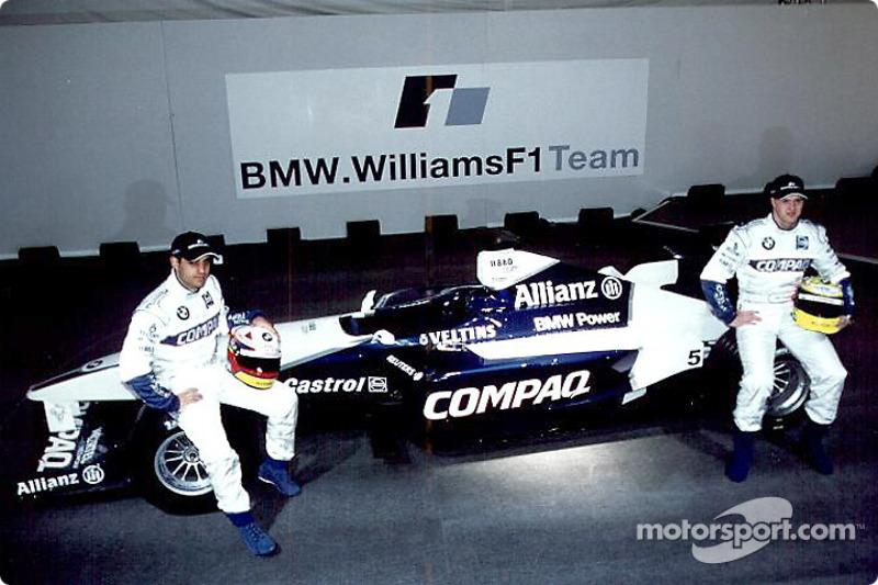 Juan Pablo Montoya and Ralf Schumacher