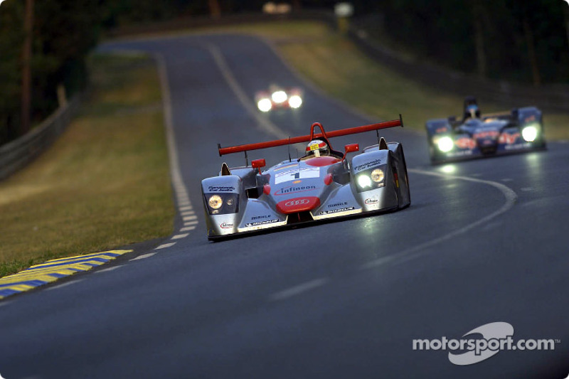 Audi driver Tom Kristensen (#1) on his way to provisional pole position