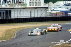 Martin Brundle in the Bentley EXP Speed 8 and Vanina Ickx in the Chrysler Viper GTS-R
