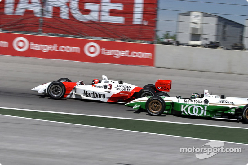 Helio Castroneves and Paul Tracy