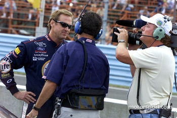Rusty Wallace being interviewed by NBC