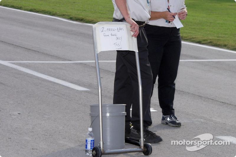 High tech NASCAR on pit road