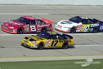 Matt Kenseth, Dale Earnhardt Jr. and Johnny Benson