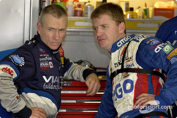 Mark Martin and Jeff Burton