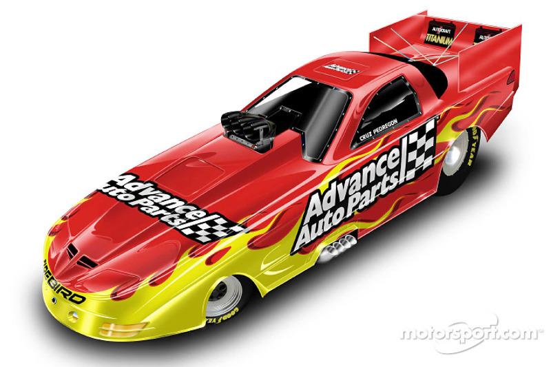 Presentation of the 2002 Advance Auto Parts Cruz Pedregon Funny Car