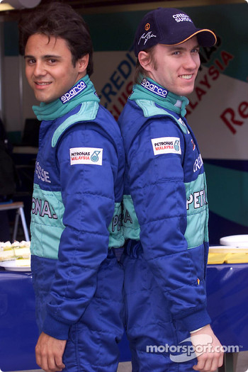 Felipe Massa and Nick Heidfeld