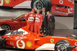 Michael Schumacher, Rubens Barrichello, Luca di Montezemelo and Jean Todt