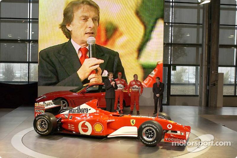 Luca di Montezemelo, Michael Schumacher and Rubens Barrichello