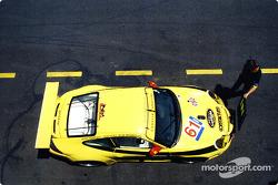 The second PK Porsche pits