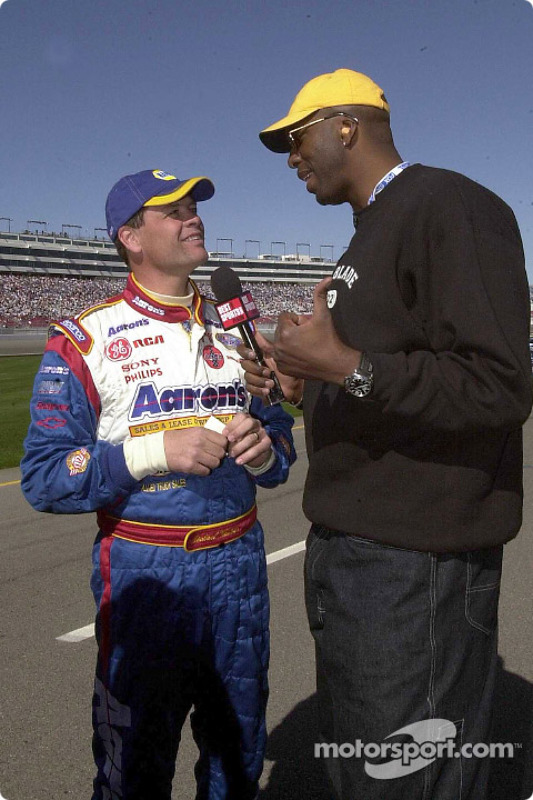 Michael Waltrip with former NBA star John Salley, also host of