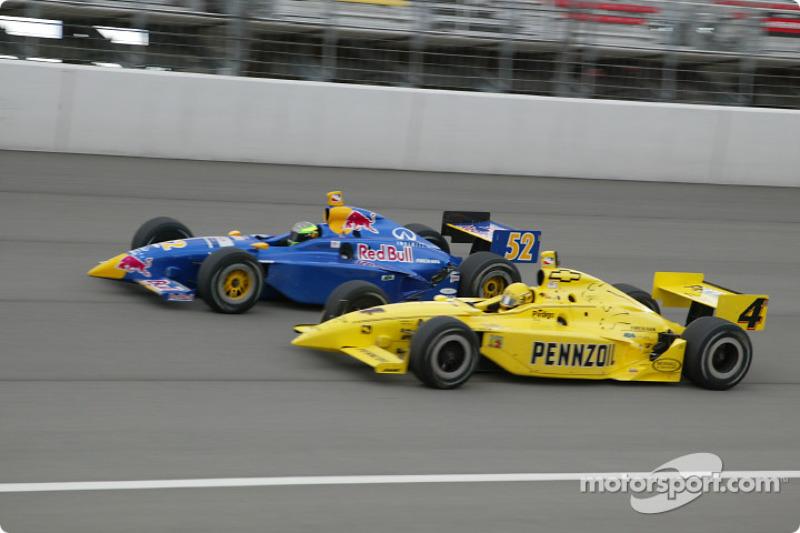 Tomas Scheckter and Sam Hornish Jr.