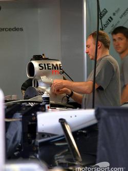 Team McLaren garage area