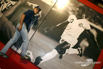 Visit at Pelé Exhibition in Sao Paulo: Felipe Massa