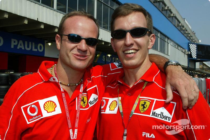 Rubens Barrichello and Luciano Burti