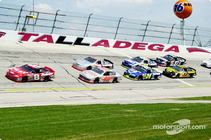 Dale Earnhardt Jr. leading the pack