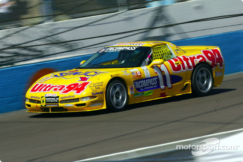 The Powell Motorsports #11 Corvette races around PIR's 1.51-mile road course during Friday's practice session