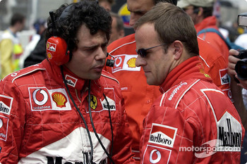 Gabriele Delli Colli and Rubens Barrichello