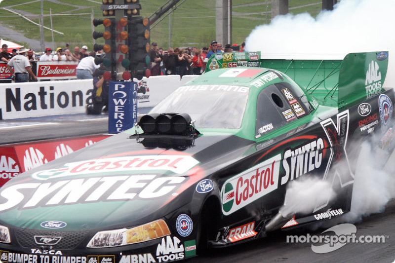 Tony Pedregon heats his tires