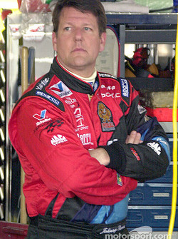 Johnny Benson spent 2 days in the hospital with broken ribs suffered during Busch race