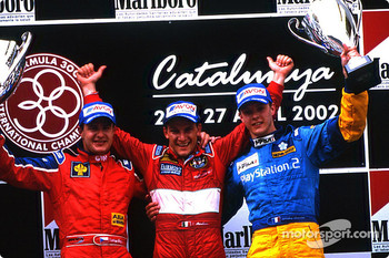The podium: race winner Enrico Toccacello, Tomas Enge and Sébastien Bourdais