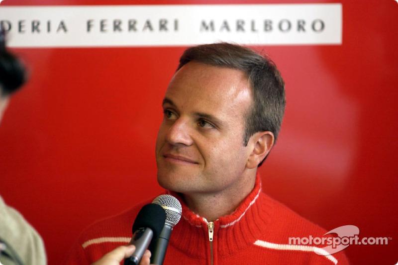 Press conference announcing 2003-2004 contract with Barrichello: Rubens Barrichello
