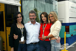 Eddie Jordan in charming company