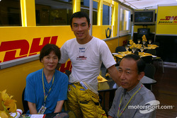 Takuma Sato and his parents