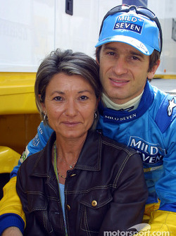 Jarno Trulli and mom
