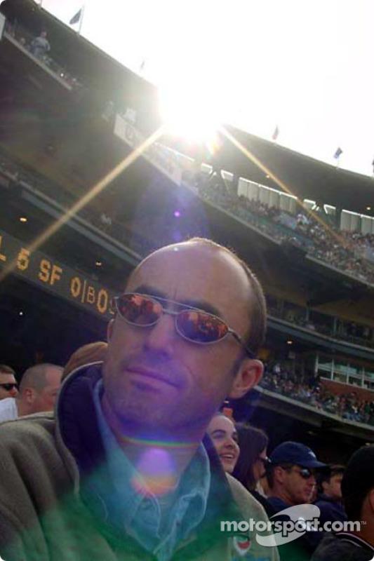 David Brabham at a baseball game in San Francisco
