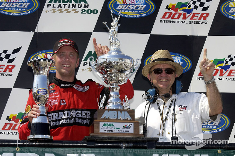 Jack is back and so is Greg Biffle in victory lane