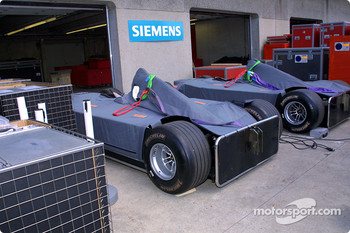 McLarens still unpacked