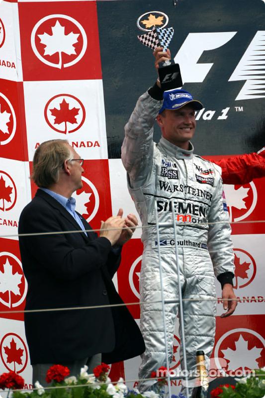 The podium: David Coulthard