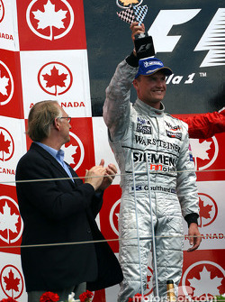 The podium: David Coulthard
