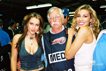 Motorsport.com's Phil Schilke and two members of Soluna
