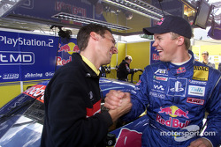 Race engineer Alex Stehlig with Mattias Ekström