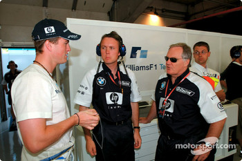 Ralf Schumacher and Patrick Head
