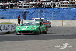 Team Olive Garden Ferrari 550 Maranello during the pace laps