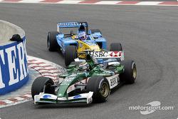 Eddie Irvine and Jenson Button